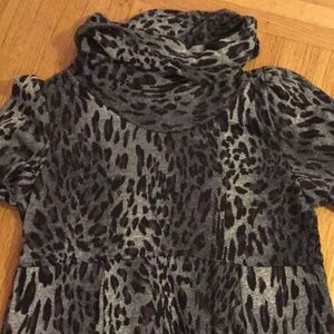 New Directions animal print dress 12 polyester